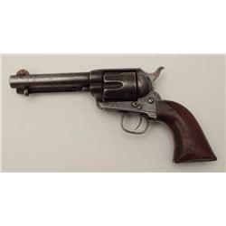 Colt Single Action Army revolver in .45 Colt  caliber with barrel shortened during period  of use fr
