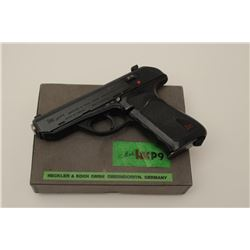 Rare H&K P9 semi-auto pistol in 9mm, S/N  090169 in box with 2 mags. Only 485 produced  in fine used