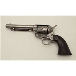 """Colt SAA revolver in .32-20 caliber with a 5  ½"""" barrel, gray patina finish, hard rubber  grips, S/N"""