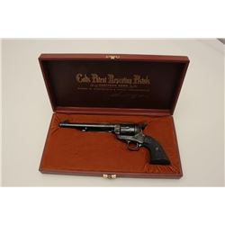 "Colt SAA revolver in .45 long colt caliber  with a 7 ½"" barrel, factory ""B"" engraved,  blue and case"