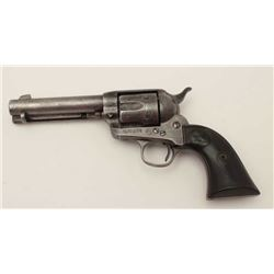 "Colt SAA revolver, .32 W.C.F. cal., 4-3/4""  barrel, blue and case hardened finish,  checkered hard r"