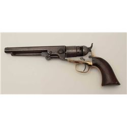 """Colt Pocket Model of Navy caliber in .36  percussion with a 6 ½"""" barrel, S/N 827 and  made during th"""