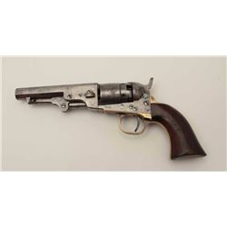 """Colt Pocket Model of Navy caliber with a 4 ½""""  barrel in .36 caliber percussion, S/N 19814  showing"""