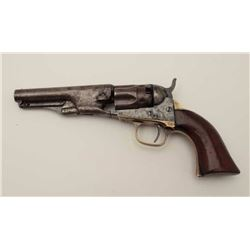 """Colt 1862 Police with a 4 ½"""" barrel in .36  caliber percussion, S/N 3033 showing early  New York add"""