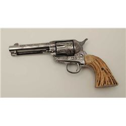 """Colt SAA revolver, .45 caliber with a 4 ¾""""  barrel, engraved and signed """"Moro 1991"""", S/N  273431 mad"""