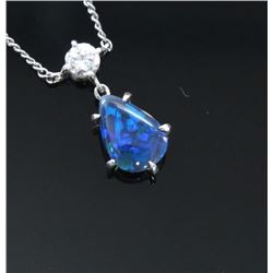 High quality ladies pendant featuring an  extra fine Australian Black Opal weighing  approx. 1.50-2.
