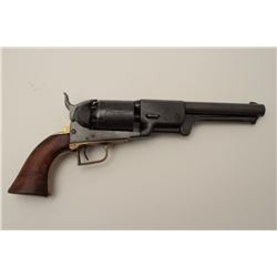 "19th century possibly Belgium made copy of  Colt Dragoon in .44 caliber, S/N 18010 with  stamped ""Ad"