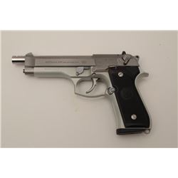 Beretta 92FS 9mm Semi-Auto pistol hard chrome  finish with aftermarket compensated and  extended bar