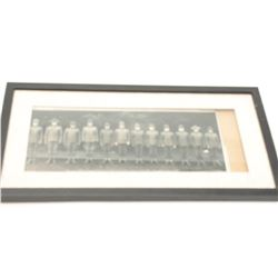 Framed and matted photo of the Officers of  the 316 Field Signal Battalion at Camp Lewis,  Wash.; Ma