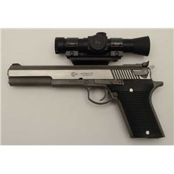 AMT Automag III Semi-Auto pistol in .30  carbine caliber with stainless steel and  scope mount attac