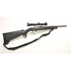 "Ruger Model 10/22 .22 L.R. caliber, S/N  121-06922 with custom Clark stainless steel  16"" heavy barr"