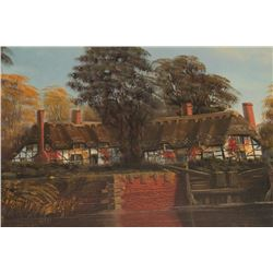 "Original oil painting signed Malcom Gearing  measuring 24"" x 36"" and titled ""River Avon,  by Isle Lo"
