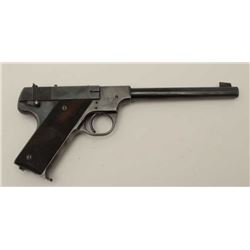 Hi Standard Model B .22 L.R. caliber  semi-auto pistol, S/N 59276. A fairly scarce  and collectible