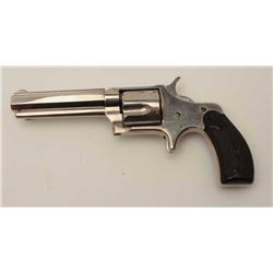 "Remington Smoot New Model No. 3 revolver, saw  handle style, .38CF caliber, 3.75"" octagon  barrel, n"