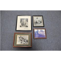 Lot of 14 WW II era aviation-related framed  pieces including a great VP-40 Reunion  (Pensacola, FL