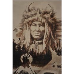 """Litho entitled """"Buffalo Run"""" by Larry Fudor  with certificate on back. Hand signed color  proof on r"""