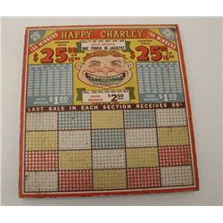 "Gambling ""punch board"" circa 1940's-60s. Like  mint and unused. New Jersey outlawed in  1950s-60s. E"