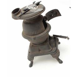 "Salesman's sample pot belly stove marked Grey  Iron Casting Co., Mt. Joy, Pa.  The ""Spark""  model is"