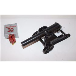 "Winchester 10 gauge signal cannon and  carriage, approximately 17"" long, 8"" wide and  7"" in height;"