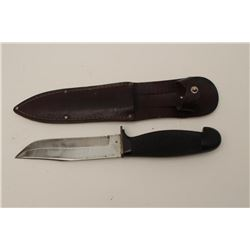 """Geo. Wostenholm & Son, Sheffield, England""  marked British Naval deck knife. Molded hard  rubber gr"