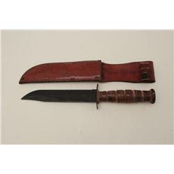 U.S.M.C. marked U.S. issue knife by Camillus  marked guard. Fine to excellent as issued.  The letter