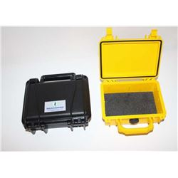 Lot of 2 Pelican water proof cases. 1  seahorse marked minus foam. Good condition.  Est.: $25-$50
