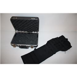 High quality pistol case unmarked in  Halburton style along with an AR15 carbine  assault case with
