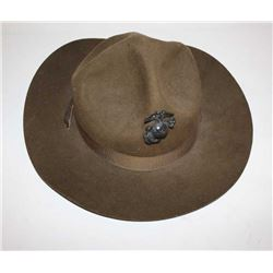 """Marine Corps. """"Smokey Bear hat with emblem  and tunic with """"A"""" star patch on left sleeve.       Est."""