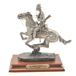 "Pewter sculpture by Anne McGrory and issued  by Chilmark Collectors Society entitled  ""Trooper of th"