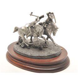 """Pewter sculpture by Donald Polland and issued  by Chilmark Collectors Society entitled """"Eye  to Eye"""""""