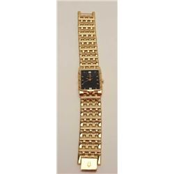 Bulova wristwatch, fancy plated with faux  jewels, Japanese movement; running at time of  descriptio