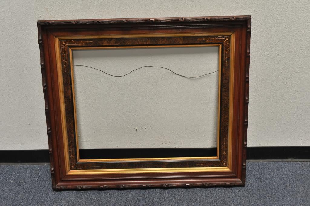 Beautiful large fancy antique wood picture frame in very good ...