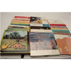 Lot of approximately 90 LP vinyl records from  the 1950's thru 1970's, most with original  sleeves,