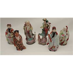 """6 Chinese porcelain figures from old  Pennsylvania estate. Measures approximately  12"""" in height. So"""