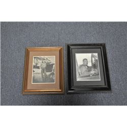 Lot of 8 framed photos of mostly WW II  European Theater pilots and planes, signed by  such airmen a