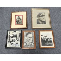 Lot of 10 framed and signed foreign military  aviation photos including German, British and  Japanes