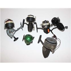 Lot of freshwater fishing items, 5 Rods and  reels. Various makers. Est.: $75-$150