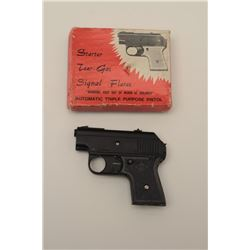 "Starter/ Flare semi-auto pistol, marked,  ""Automatic Triple Purpose Pistol"".  The  Italian made pist"