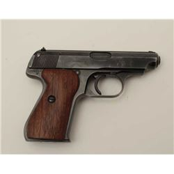 J.P. Sauer Nazi marked Double Action .32 ACP  caliber semi-auto pistol with holster, S/N  326905 sho