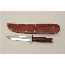 "Kabar Olean, N.Y. U.S. issue knife with 6""  plated blade. Excellent to almost mint, Pre  MKI. (Cole/"