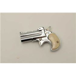 "Davis Industries .22 mag- .22 L.R. over under  derringers with 2"" barrels and 4"" overall.  Nickel pl"