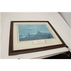 "Large framed and matted Artist's Proof print  entitled ""Channel Dash, by R.G. Smith, hand  signed an"