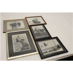 "Lot of 5 framed early aviation photos  including one signed ""To Bill Bettis, Jeff  Bingham"".    From"