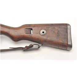 German Mauser Model K98 bolt action rifle, 8  x 57 caliber, serial #7796F.  The rifle is in  good ov