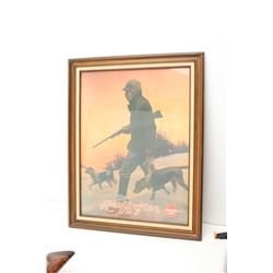 Framed vintage Remington UMC advertising  print.  The piece is in good overall  condition with some