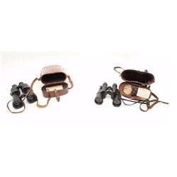 """Lot of 2 binoculars as described: 1. """"7x50 No. 1051"""" on the label on interior  reads """"Jumelles de 7x"""