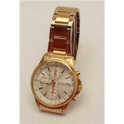 Seiko Chronograph wristwatch with fancy  4-face dial; gold plated, excellent used  condition.