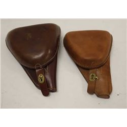 Lot of 2 reproduction Nambu holsters; high  quality.     Est.:  $100-$200.