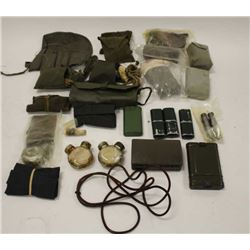Lot of military cleaning kits from various  countries; WW II to Cold War.     Est.:   $100-$200.