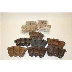 Lot of ammo pouches to accompany Mauser and  other European rifles.     Est.:  $150-$300.